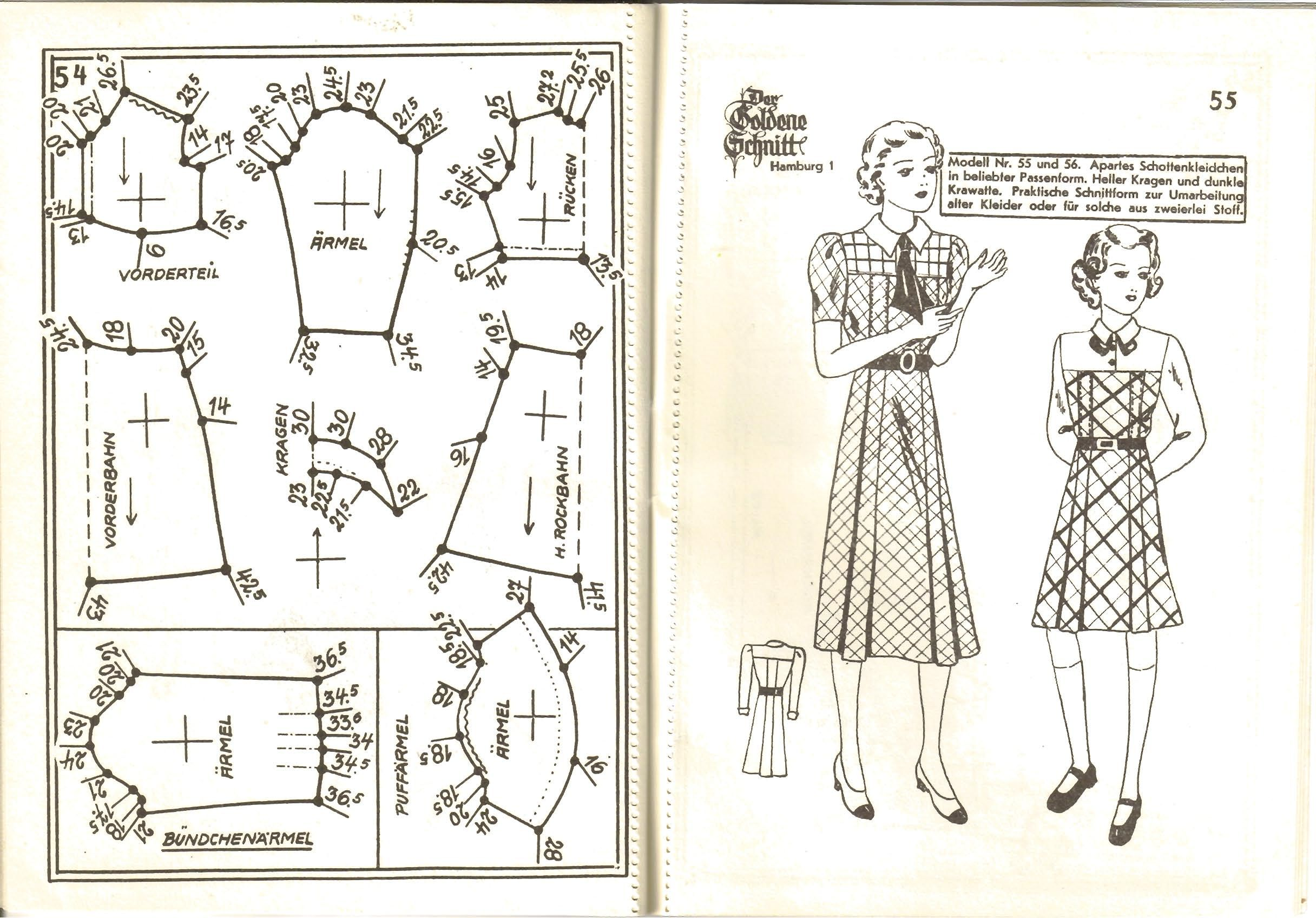 Lutterloh 1939 Book Of Cards - Models Diagram Card Page 54 & 55 ...