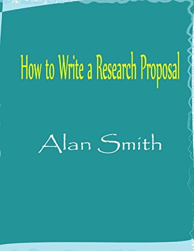 How To Write A Research Proposal  Books And Books