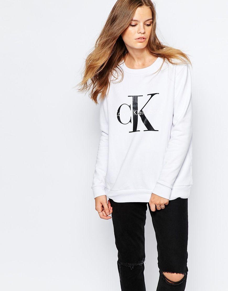 Calvin Klein Jeans Logo Sweatshirt | Adidas must haves | Pinterest ...