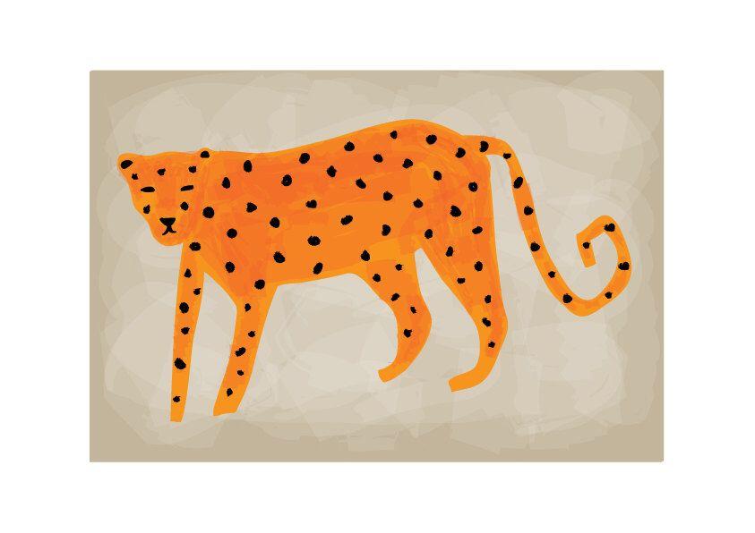 Leopard Art Print, Animal Illustration, Drawing, Illustration, Children Room…