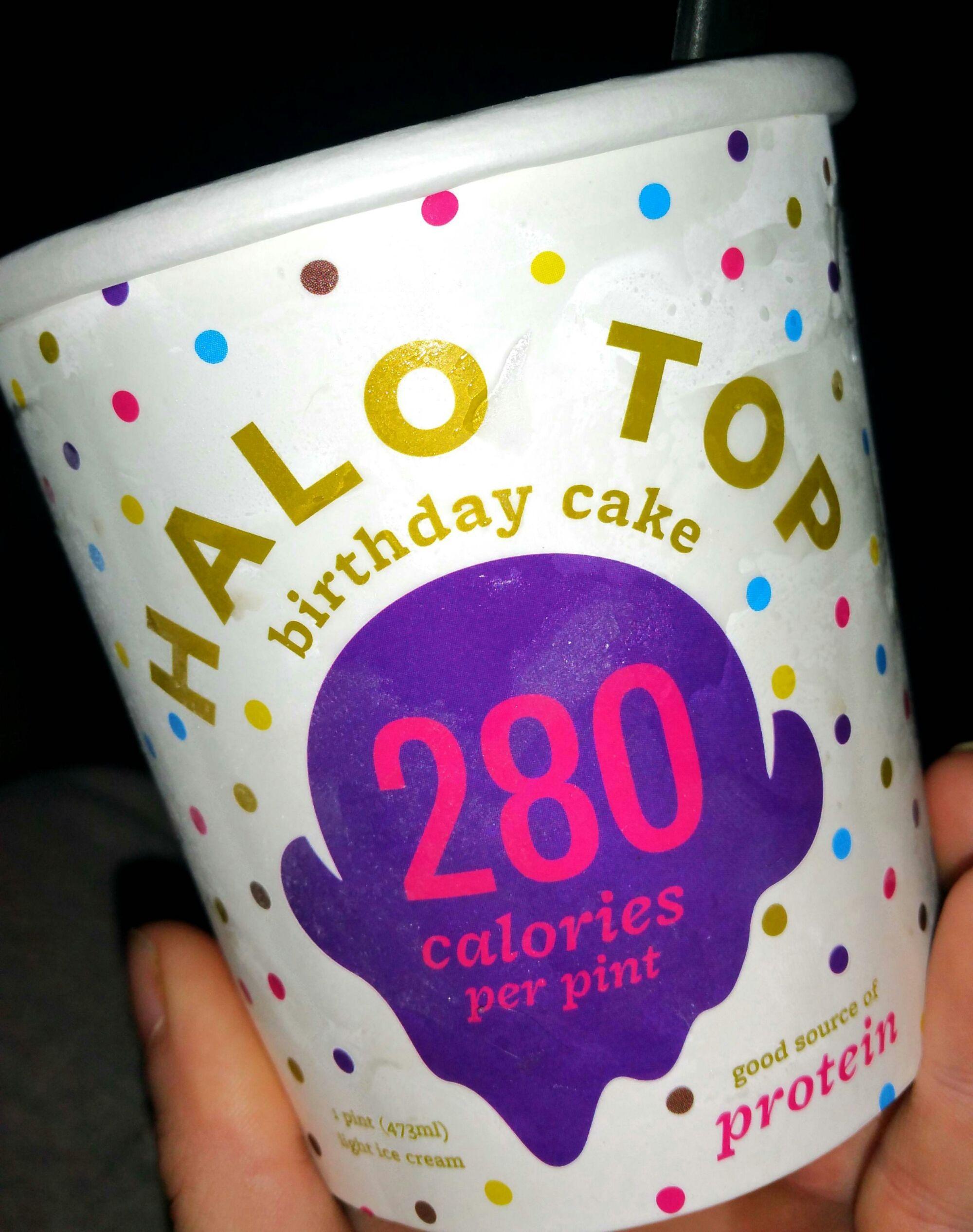 PRODUCT REVIEW Halo Top Ice Cream Birthday Cake Ice cream