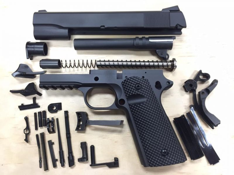 1911 tactical 80% builders kit black your choice  45 acp or