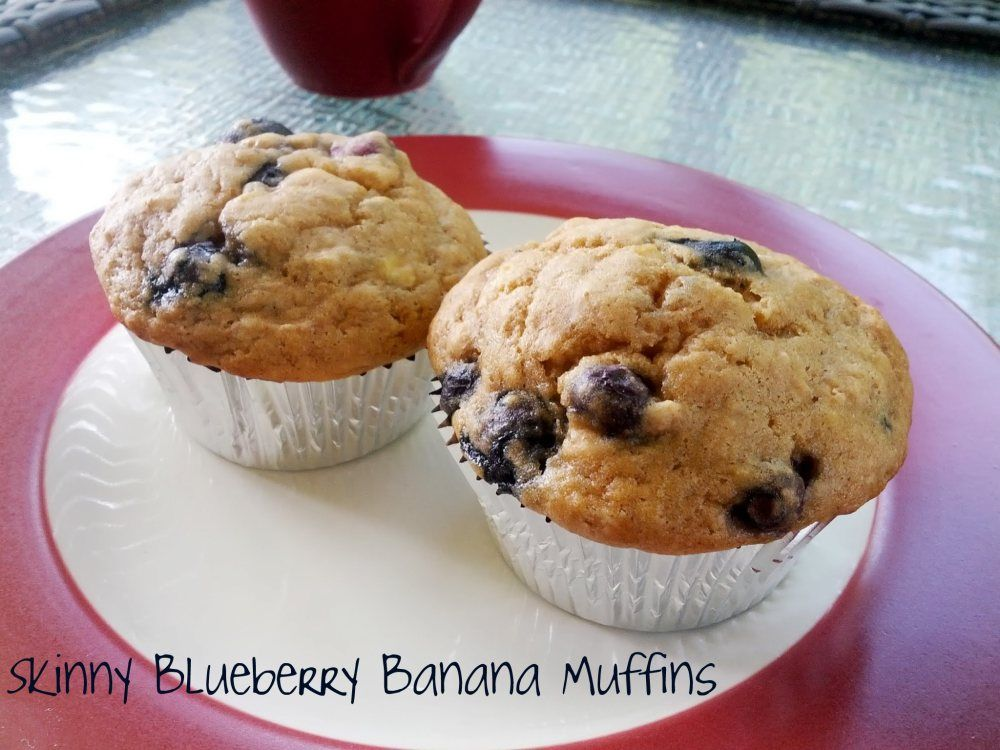 Skinny Blueberry Banana Muffins | Blueberry, Bananas and ...