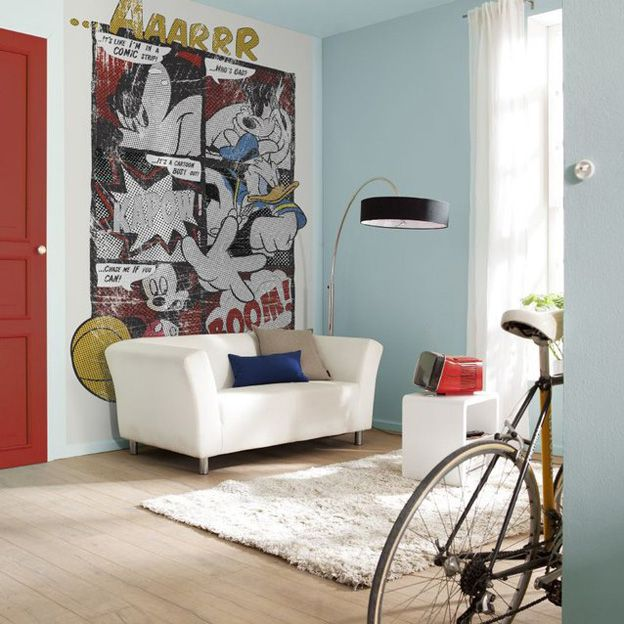 Mickey Mouse Bedroom Decorating Ideas: Mickey Mouse Comic Strip Wallpaper