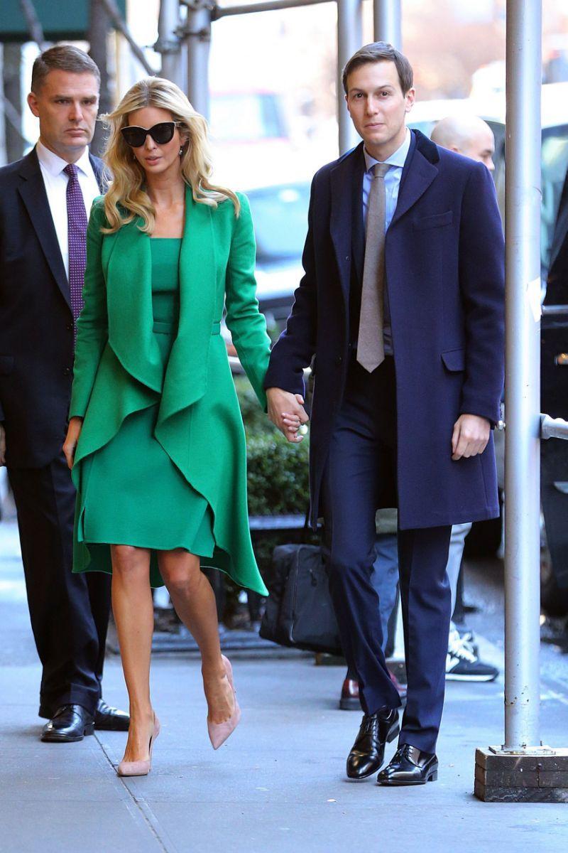 Ivanka green coat