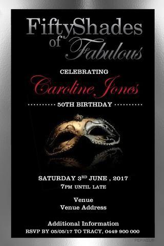 50th Birthday Party Invitation Digital Printable Template 50