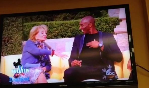 Kobe was on The View. Nov 2013