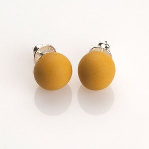 Reykjavik Corner Store  Pirouette Earrings Curry, 19€, now featured on Fab.