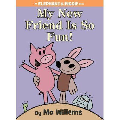 Gerald is careful. Piggie is not.  Piggie cannot help smiling. Gerald can. Gerald worries so that Piggie does not have to.   Gerald and P...E WEL