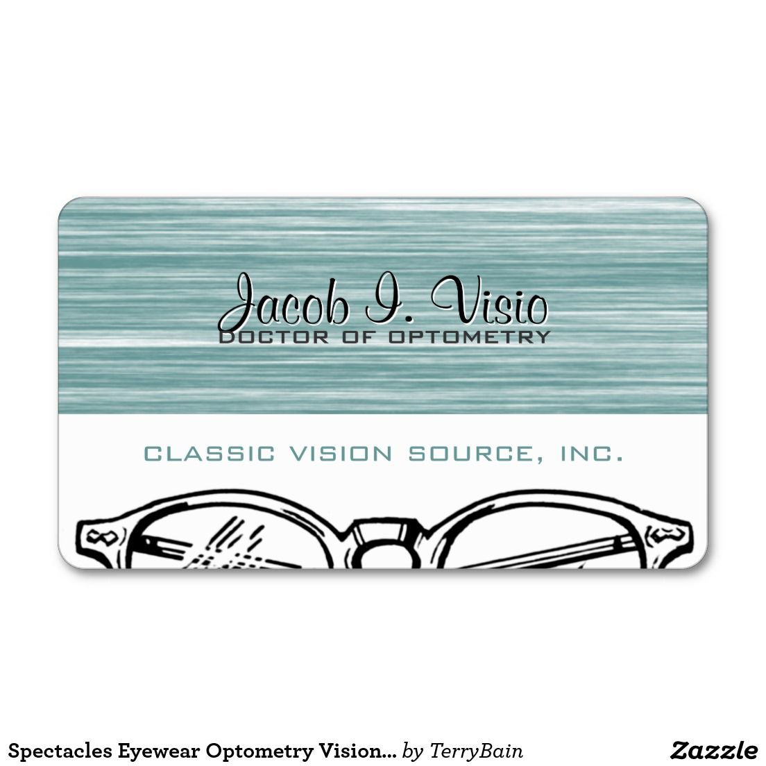 Spectacles Eyewear Optometry Vision Scratchy Business Card | Stuff ...