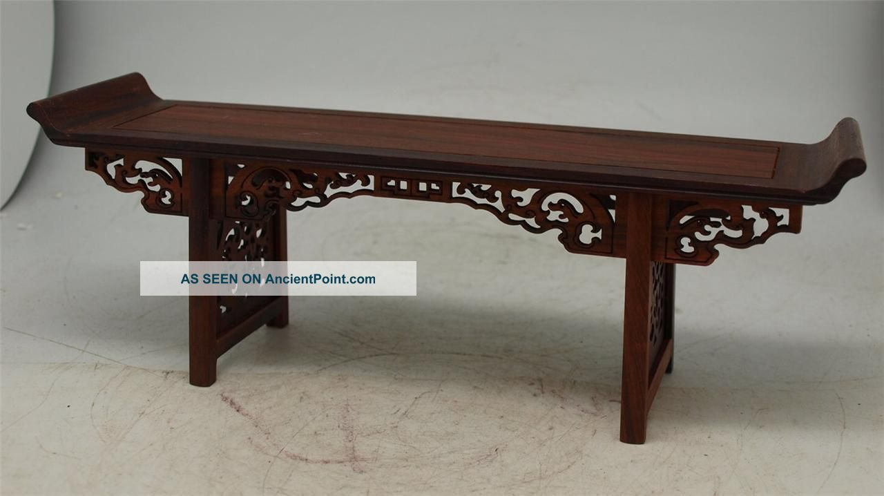 Chinese Miniature Carved Rosewood Console Table   Apprentice Furniture  Oriental Other Photo