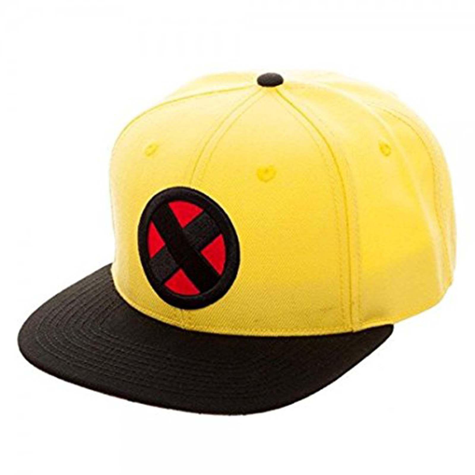X-Men Wolverine Yellow Logo Snapback Hat  0aa2d0eed772
