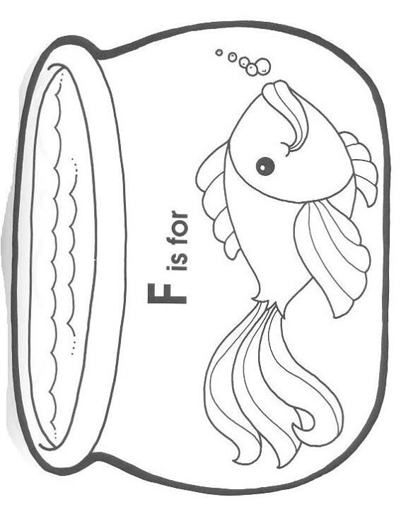 Fish bowl coloring page | Under the sea crafts, Letter a ...