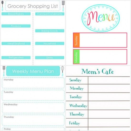 20 Printables that Will Help Organize Everything Free printables - fitness plan template