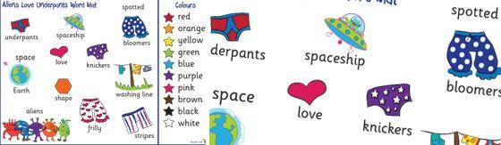 Aliens Love Underpants Word Mat Plain Http Displays Tpet