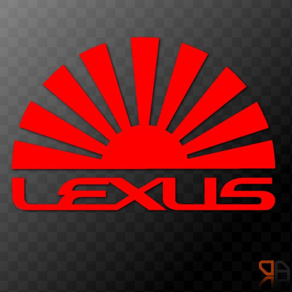 Details About Lexus Rising Sun Arc Vinyl Decal Sticker JDM - Lexus custom vinyl decals for car