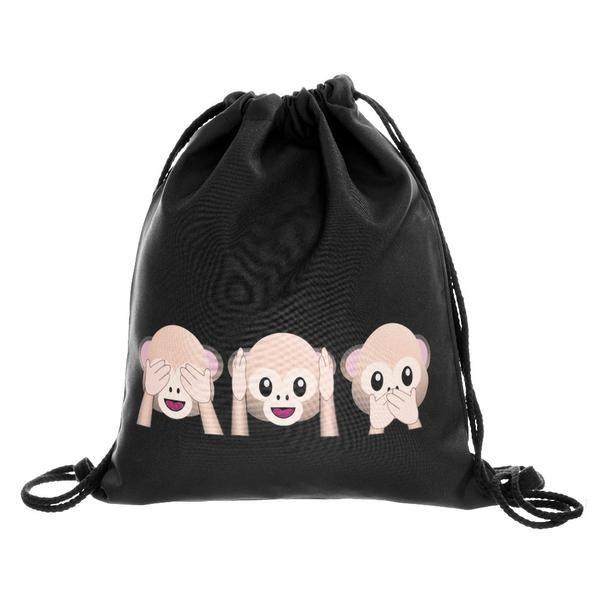 Women backpack mochila feminina harajuku drawstring bag unisex backpacks