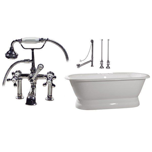 Randolph Morris Tub Package 18: 66-inch Double Ended Pedestal ...