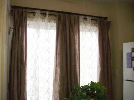 Double Window Treatments Window Treatment Blinds And Window Shade Curtain Window Treatments Living Room Curtains Living Room Double Rod Curtains