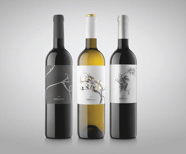 JASPI BLANC wine by Atipus Graphic Design , via Behance