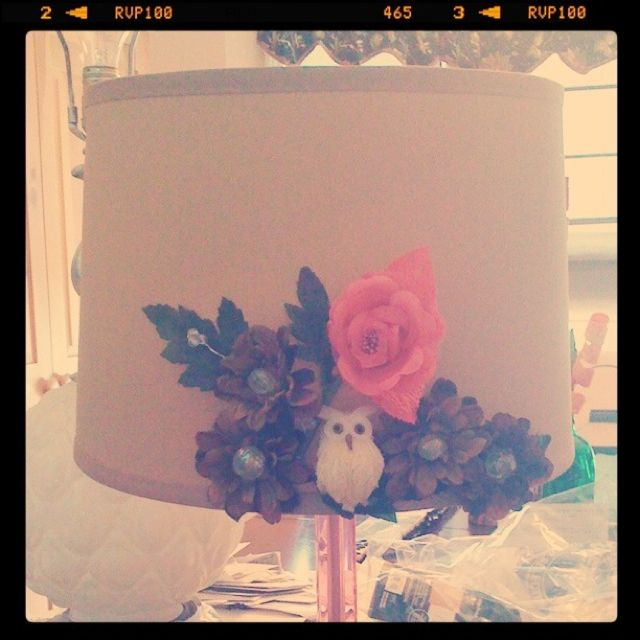 Easy to design lamp shade. Took 15 minutes. So adorable