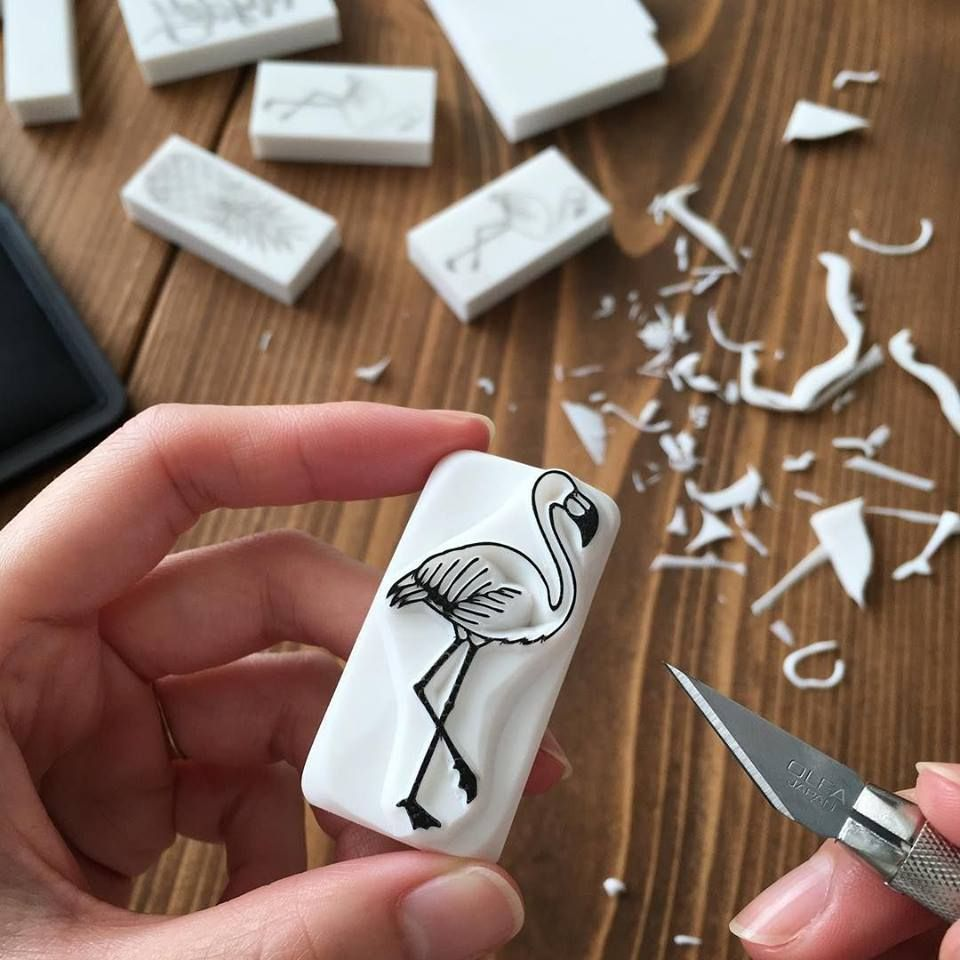 Use an eraser as a creative stamp! #eraserstamp