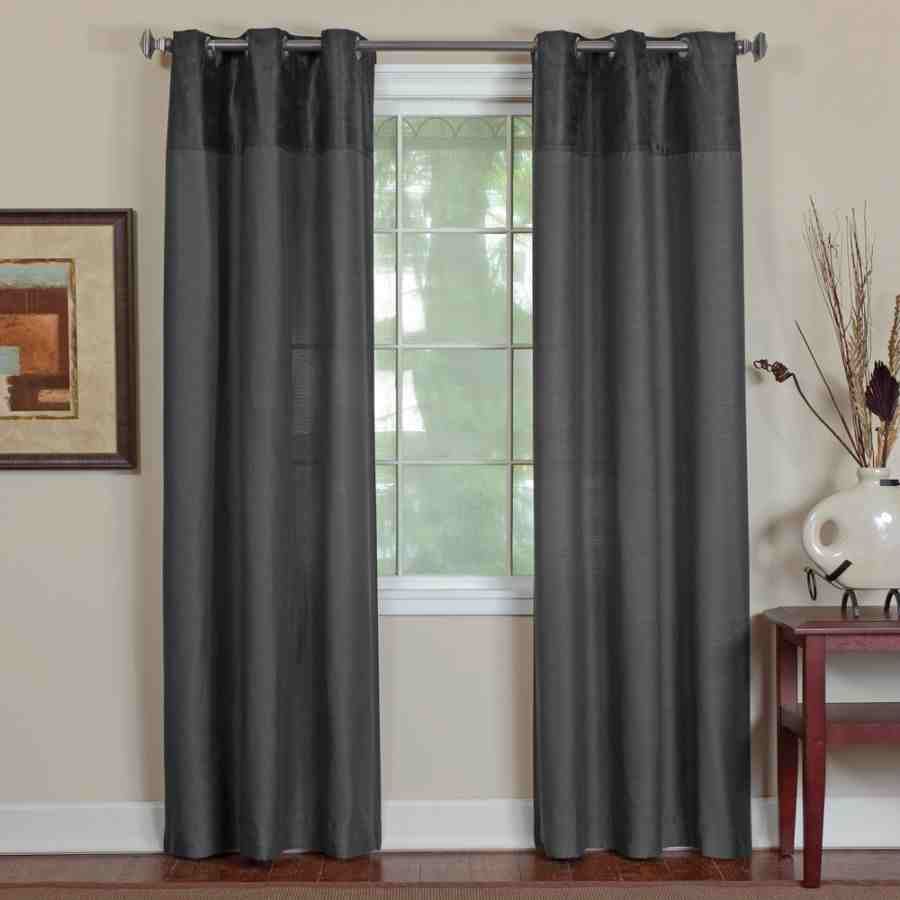 Curtain Designs For Living Room Contemporary Adorable Drapes And Curtains  Contemporary Metallic Grommets Drapes Inspiration