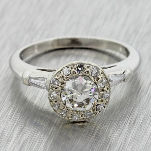 1940s #antique art deco estate solid #platinum .52ct diamond #engagement ring egl,  View more on the LINK: http://www.zeppy.io/product/gb/2/302020352330/