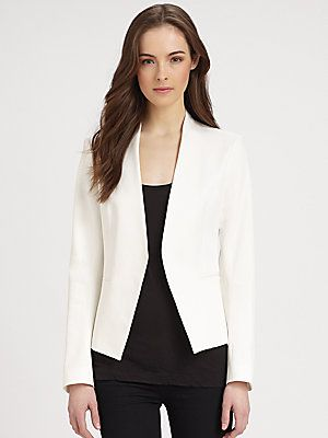 a499b5afce Theory Cropped Open Front Blazer | Fashion