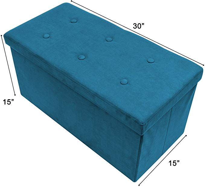Amazon Com Sorbus Storage Ottoman Bench Collapsible Folding
