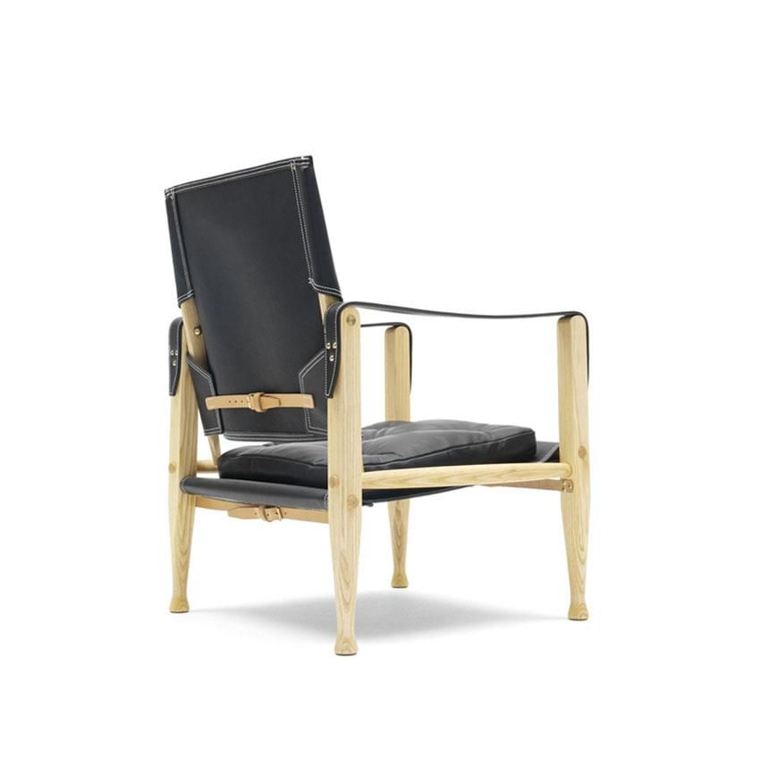 Mk47000 Safari Arm Chair Ash Canvas Kaare Klint Carl Hansen Søn