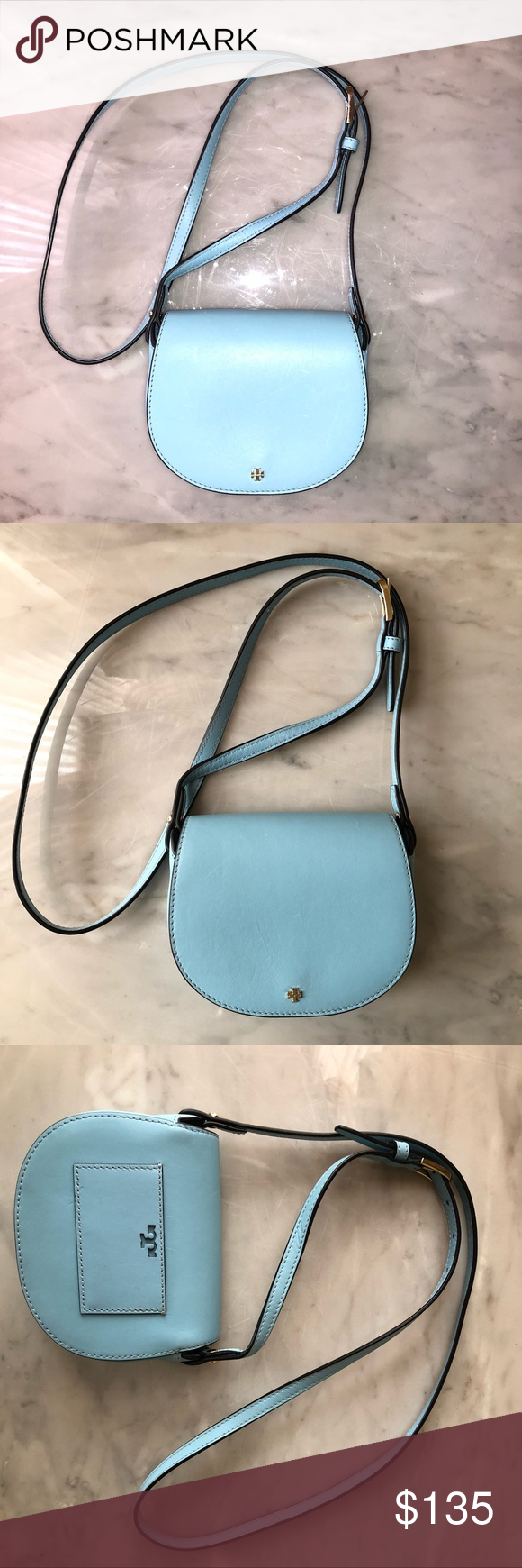 72b7f0d9e92b TORY BURCH BABY BLUE CROSSBODY • Gorgeous crossbody in excellent pre loved  condition. No stains. Price is firm. Debating on still keeping it myself  Tory ...