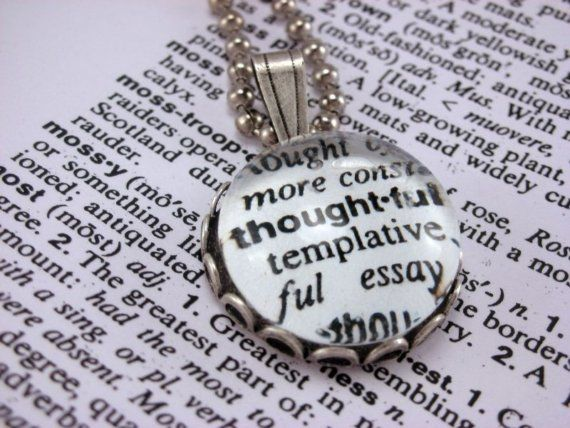 Glass marble dictionary definition necklace pendant thoughtful with glass marble dictionary definition necklace pendant thoughtful with 18 inch ballchain mozeypictures Gallery