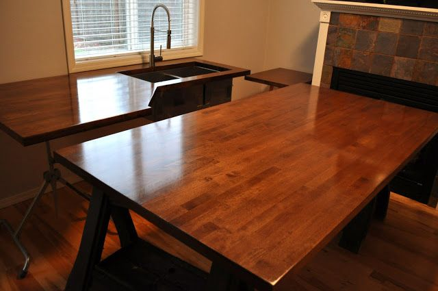 Butcher Block for office desk top