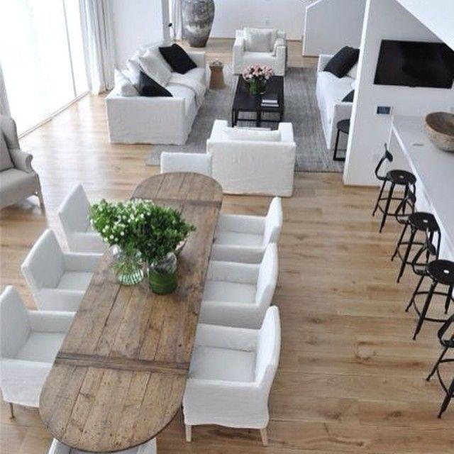 Decoration Sejour Bois Blanc Nicolle Table Ovale Decoration