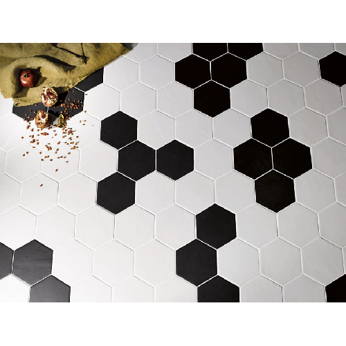 Carrelage hexagonal 17,5x20 Tomette design - 1m² | Carrelage grès cérame, Carrelage hexagonal ...