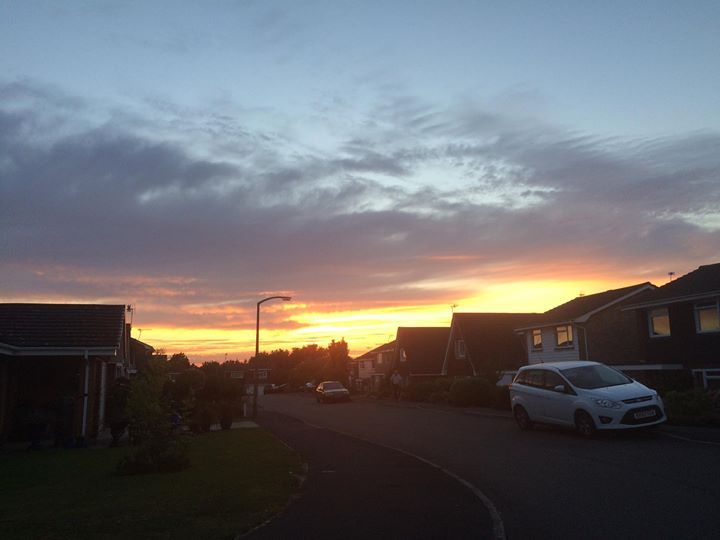 Lovely warm evening and brilliant sun setting :-)