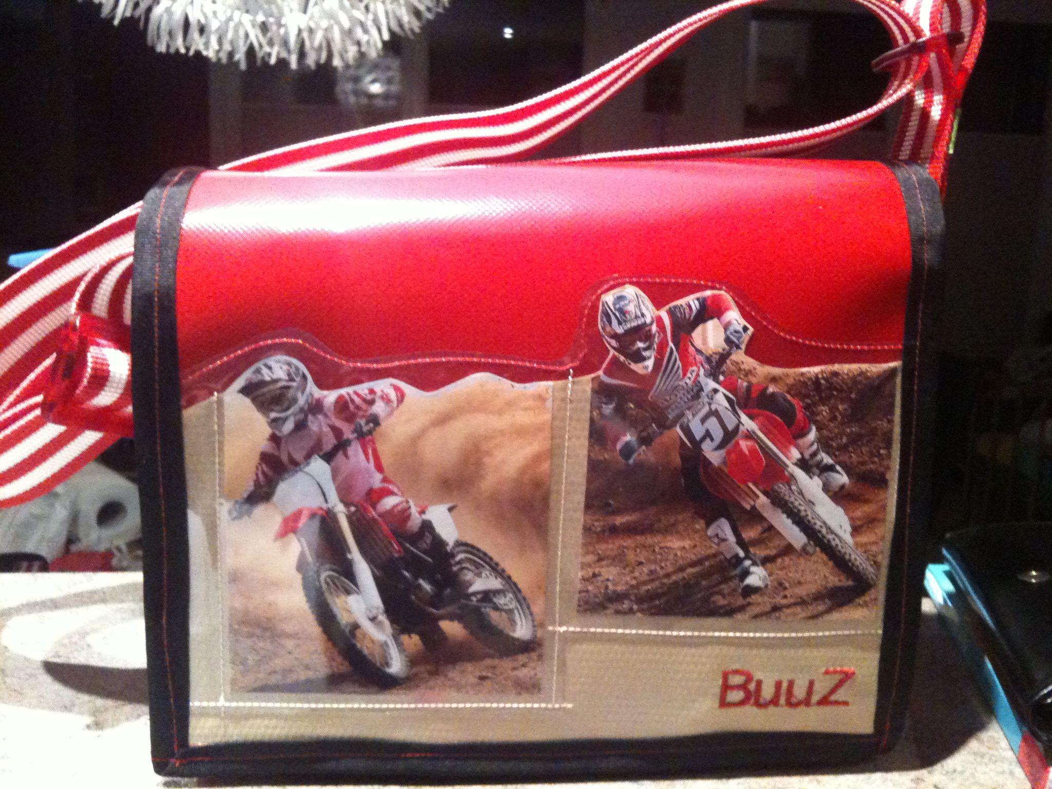 kindergartentasche... wunsch des kindes: motorräder die auf sand fahren...