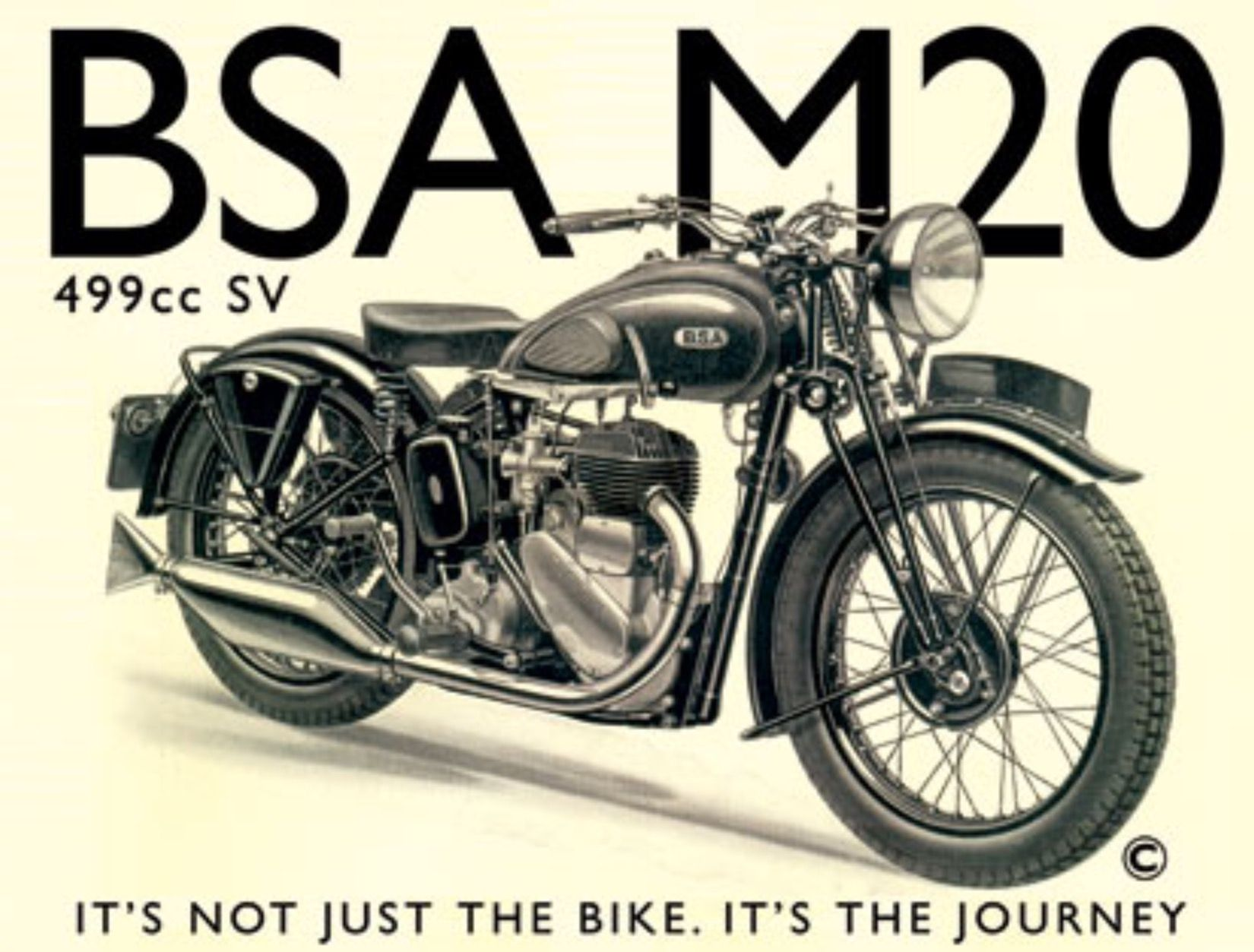 Bsa M20 Vintage Motorcycle Posters Classic Bikes Classic Motorcycles