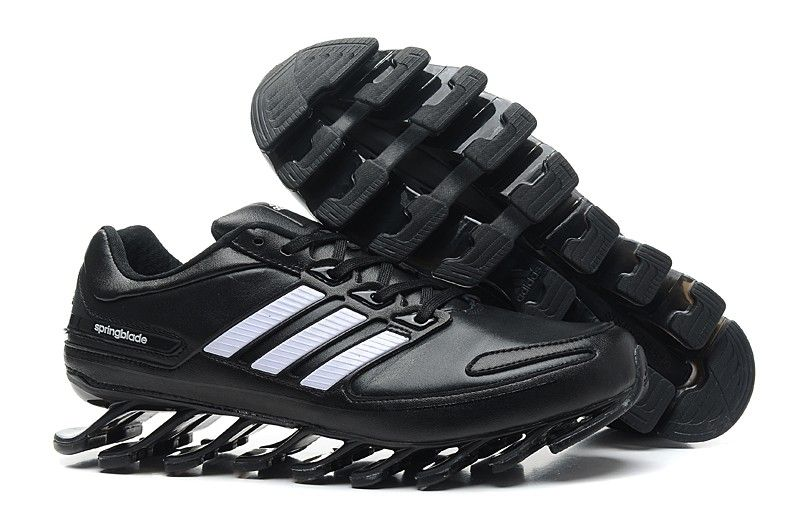 Mens Adidas Springblade Leather Black White sport running shoes jeremy  scott adidas Regular Price: $200.00