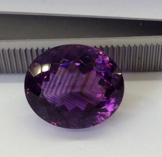 Amethyst Gemstones 16.5 x 13.8 x 10.9mm 15.4 carats Auction #547559 Gem Rock Auctions