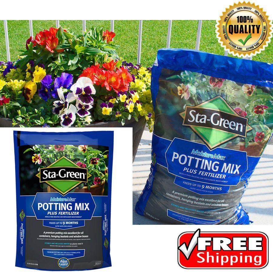 Sta Green 16 Quart Potting Mix Growing Media Soil Fertilizer Flower Plant