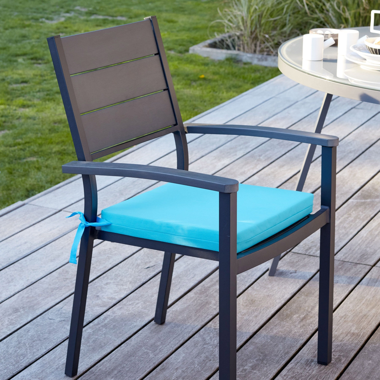 Galette D Assise De Chaise Ou De Fauteuil Florida Bleu L 40 X H 5 Cm Assise De Chaise Chaise Et Galette De Chaise