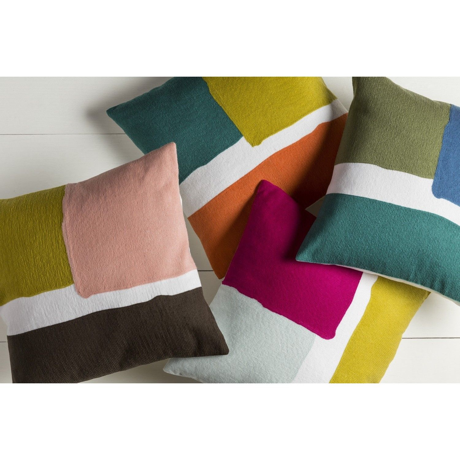 Crafted from percent cotton this modern pillow is sure to be