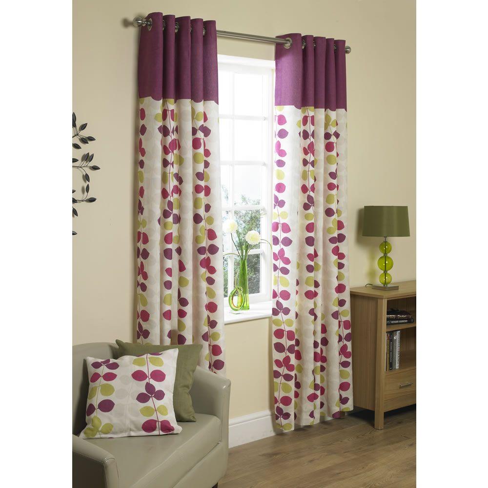 Plum curtains - Wilko Tamara Curtains Lined Eyelet Plum 46inx72in Tamara Curtains Curtain Textiles From Wilkinson