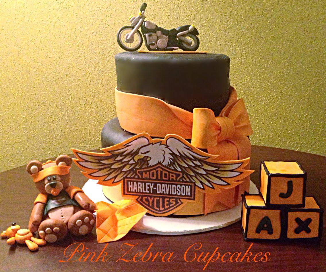 Harley Davidson Baby Shower Cake Cakes Pinterest Babies