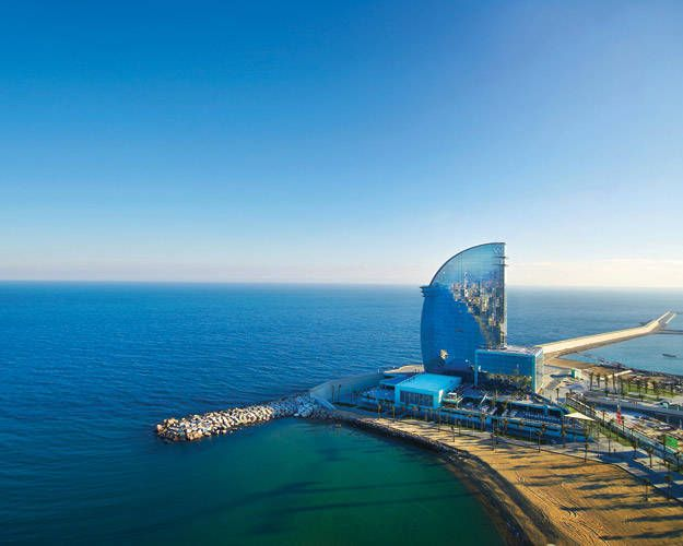 ELLE DECOR GOES TO BARCELONA    The beachside W Barcelona resort.