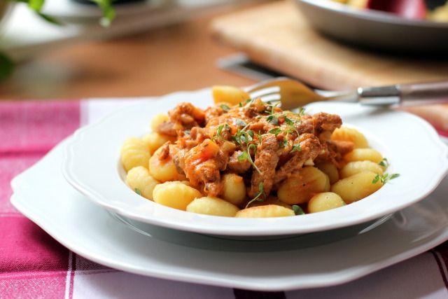 Pork Geschnetzeltes With Gnocchi