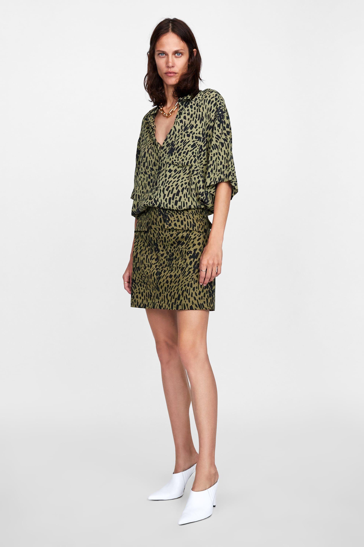 Zara Woman Animal Print Blouse Zara Spring 2018 Collection