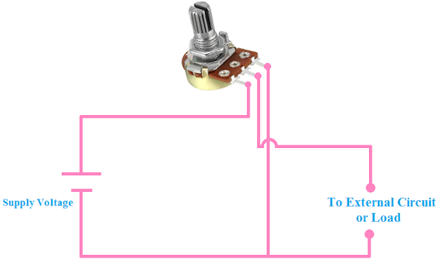 Connection Of Potentiometer For Voltage Dividing Circuit Circuit Diagram Electronics Basics